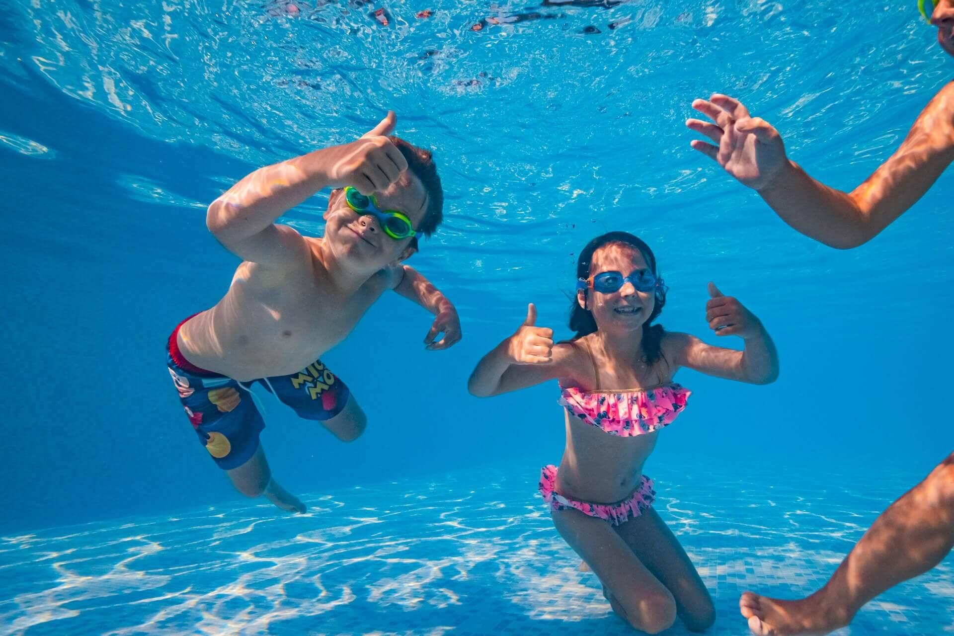 underwater photo in swimming pool