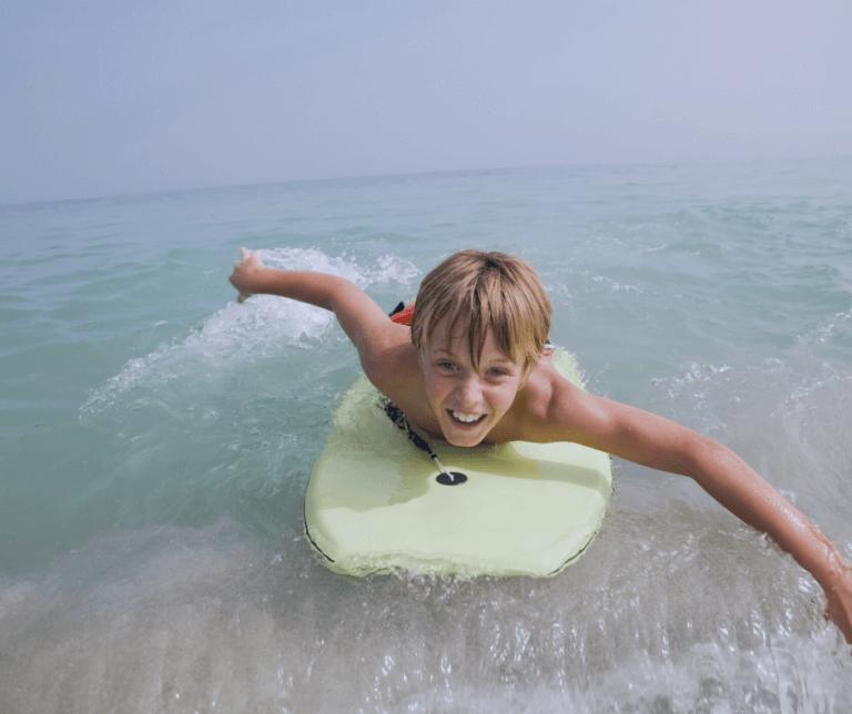 child body boarding