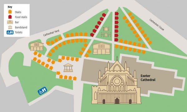 Exeter Christmas Market Stall Map